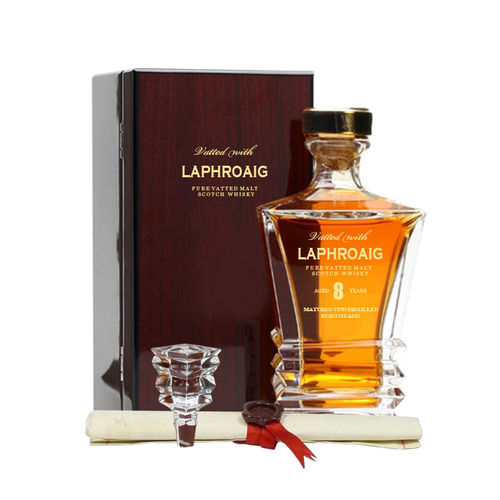 Vatted With Laphroaig 8YO 70cl Humidor Islay Pure Vatted Malt Scotch Whisky